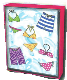 Bikini Splash Solid Note Box