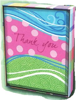 Wave Thank You Note Box